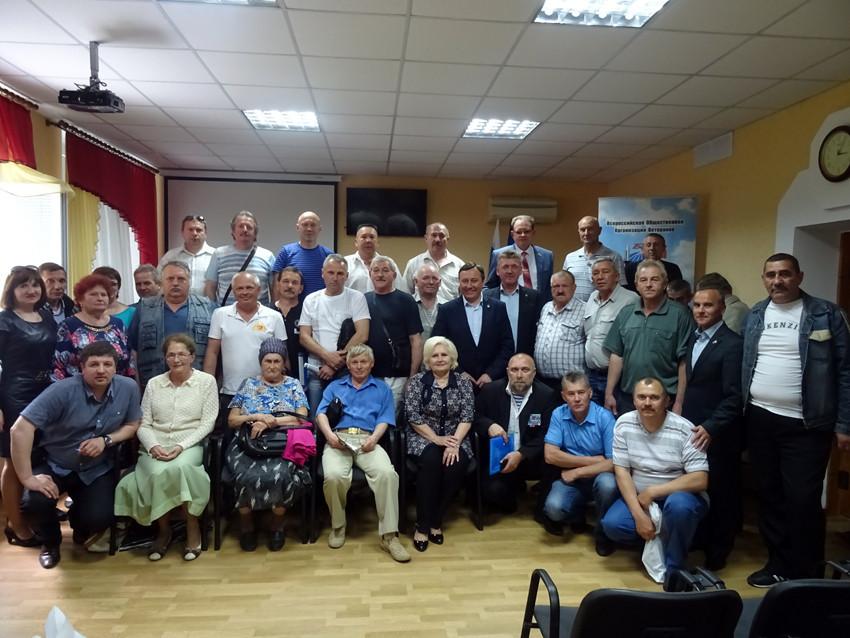 Ветераны и члены их семей после встречи, Симферополь 25.05.16 г.