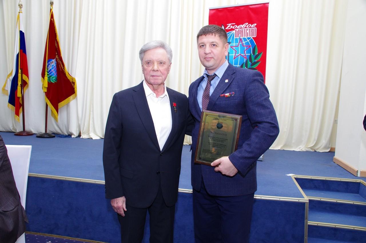 Председатель «БОЕВОГО БРАТСТВА» Громов Б.В. отметил работу правового центра «Точка опоры»