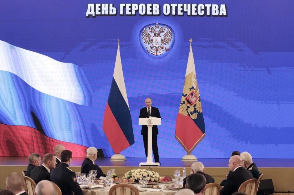 Владимир Путин выступил на Торжественном приёме по случаю Дня Героев Отечества.
