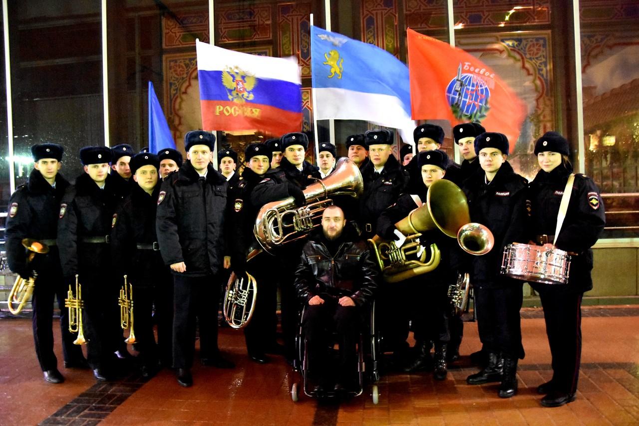 Торжественная церемония отправки ветеранов боевых действий в Афганистане в Кремль