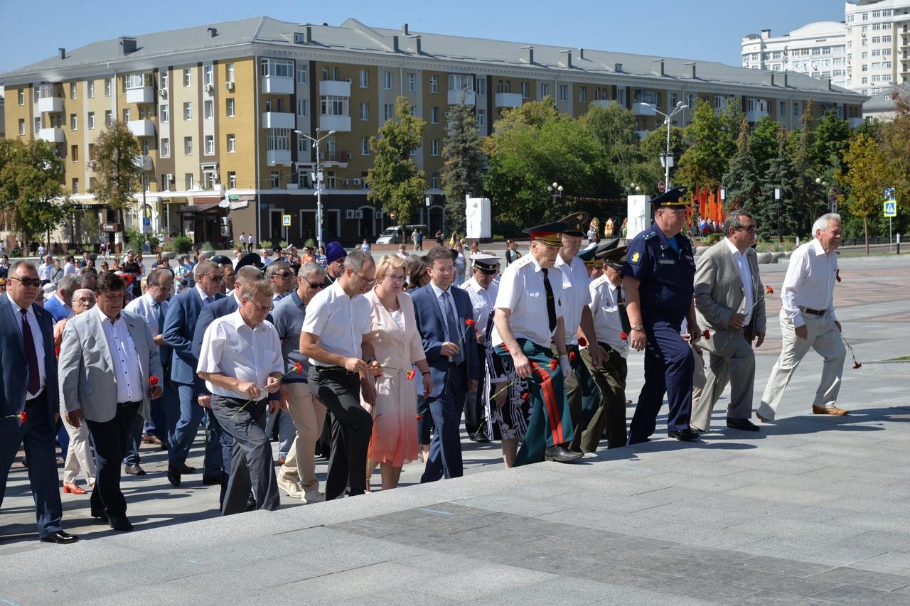 В День города прошел митинг «Не меркнет летопись Победы!», посвященный 77-й годовщине освобождения Белгорода от немецко-фашистских захватчиков