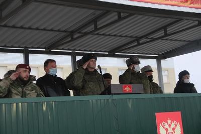 Митинг, посвящённый началу зимнего периода обучения 2020-2021 учебного года на плацу воинской части Валуйского гарнизона