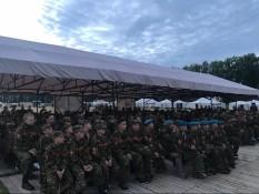 Урок мужества в военно-патриотическом лагере «Ратники Отечества. Бородино-2018»