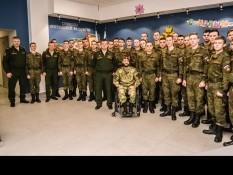 Встреча студентов военной кафедры с Вячеславом Воробьевым