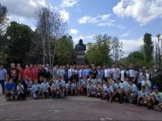 Возложили цветы к памятнику Г.К. Жукова