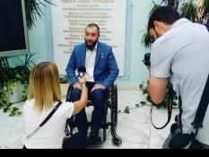 Герой России Вячеслав Воробьев дал интервью одному из телеканалов Белгорода