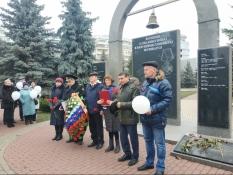 Митинг памяти погибших в вооруженном конфликте в Чечне.