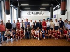 Торжественное открытие нового зала бокса в