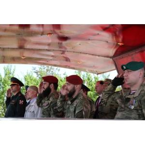 Вячеслав Воробьев на торжественных мероприятиях в Гудермесе